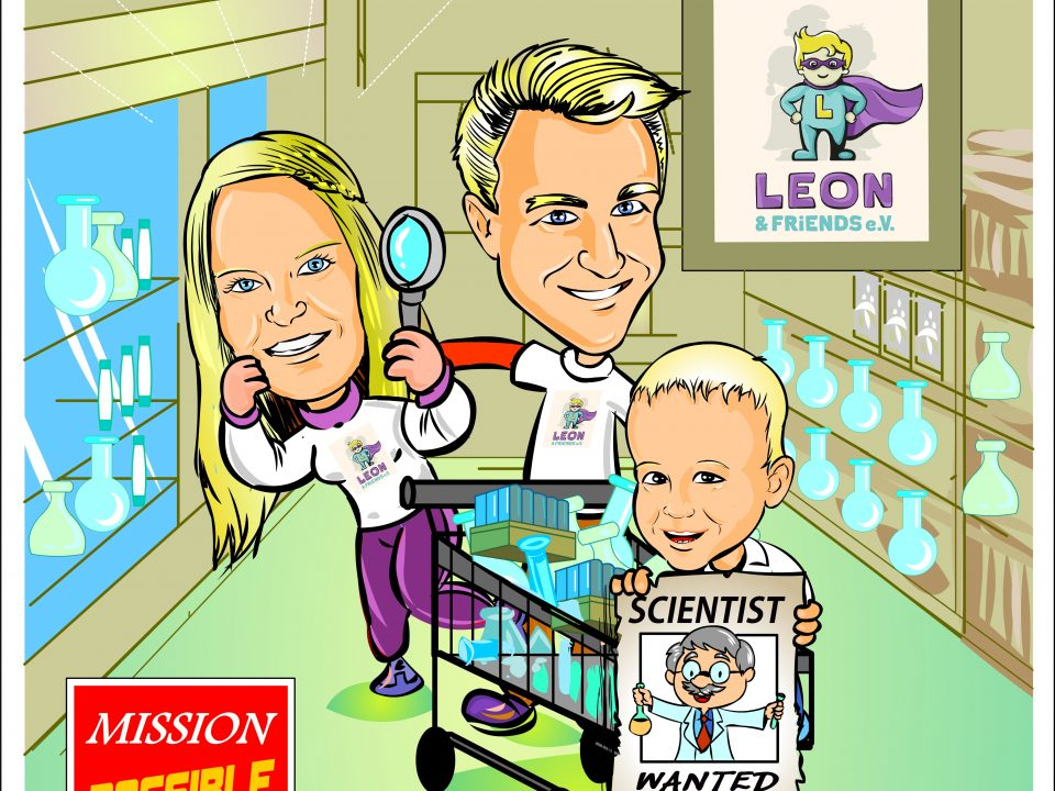 Cartoon_LEON AND FRIENDS_ ERC Synergy Grant Investigator search